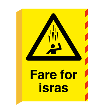 Fare for isras skilt L-skilt - A2 (594 x 420 mm) - Varselskilt